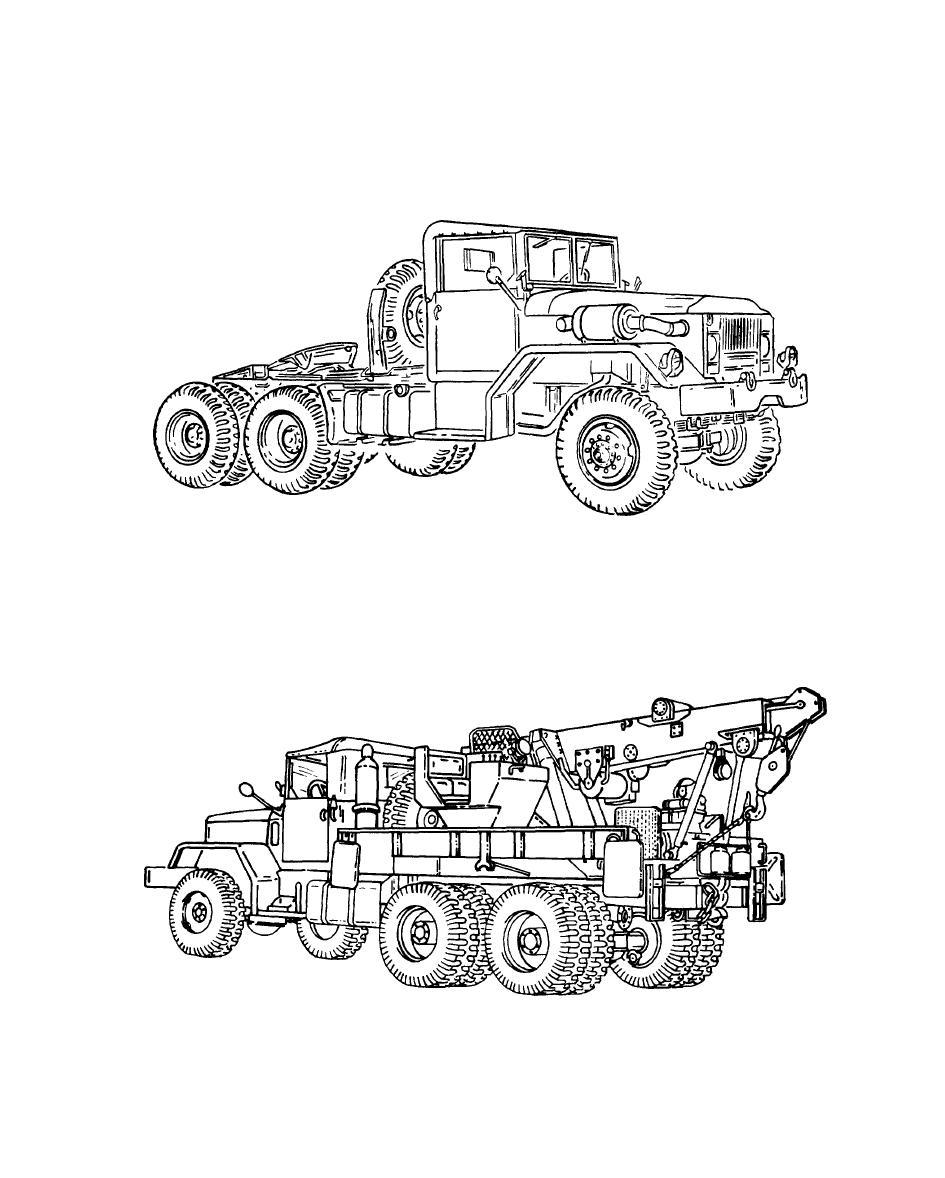 Figure 1-4. Typical 5-Ton, 6x6, Medium Wrecker Truck (M543A2).