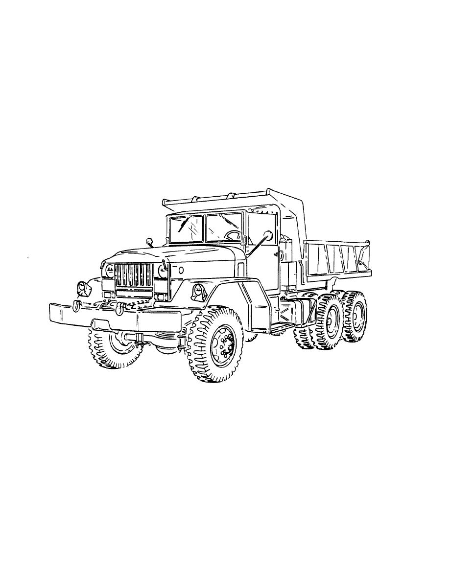 Figure 1-5. Typical 5-Ton, 6x6, Dump Truck (M51A2)