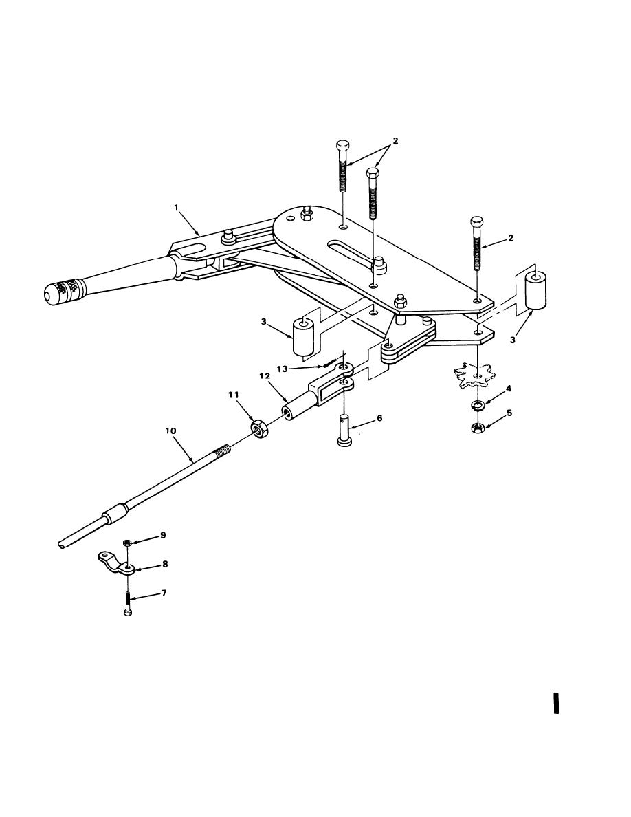 FIGURE 8. HANDBRAKE LEVER MECHANISM
