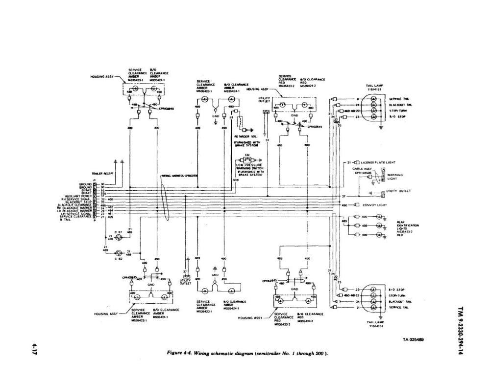 medium resolution of wiring schematic diagram semitrailer no 1 through 200