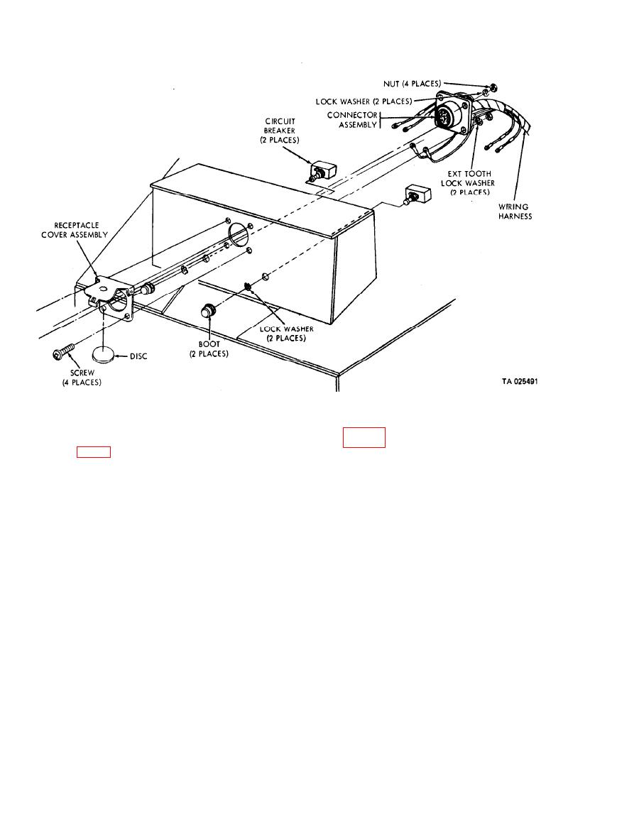 Figure 4-6. Intervehicular receptacle cover and circuit