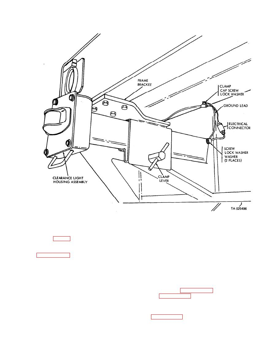 Figure 4-11. Retractable clearance light housing assembly