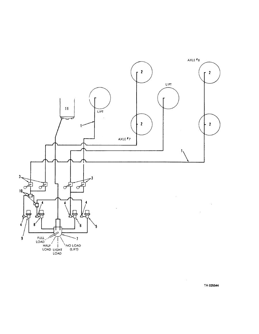 Figure 4-60. Air suspension system schematic diagram