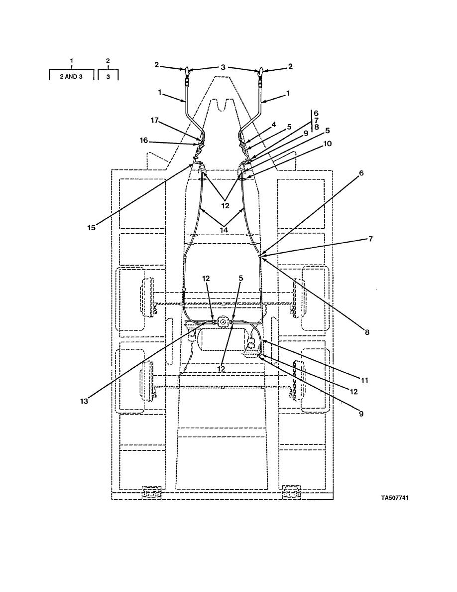 FIGURE 17. AIR LINES, HOSES, AND FITTINGS (XM979, XM1061