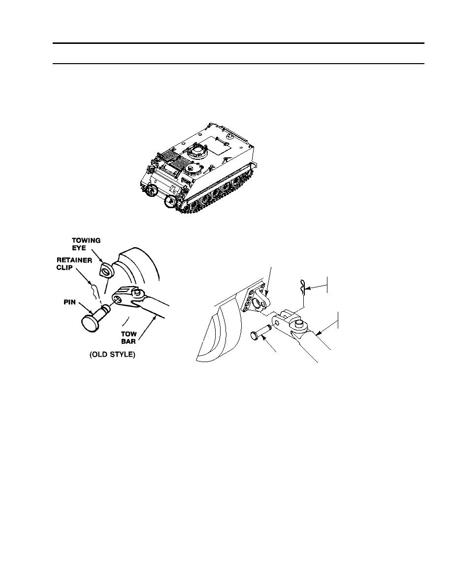 REMOVE TOW BAR FROM DISABLED CARRIER AND RECOVERY VEHICLE