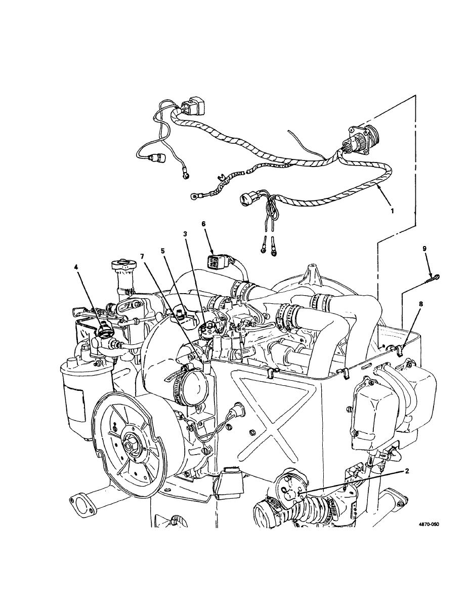 Figure 4-50. Wiring Harness, Test, Removal and Installation.
