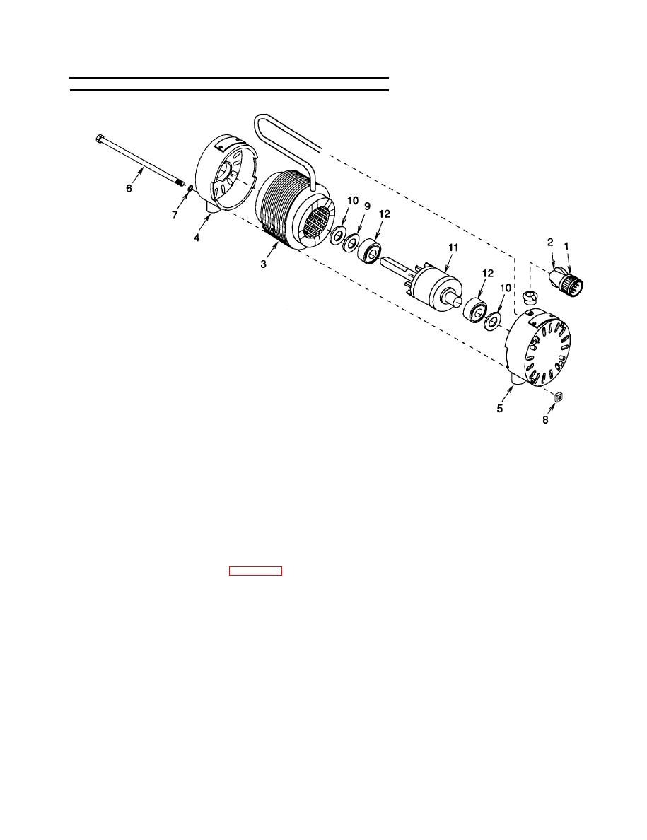 Figure 5-6. Condenser Fan Motor Assembly, Howell Electric