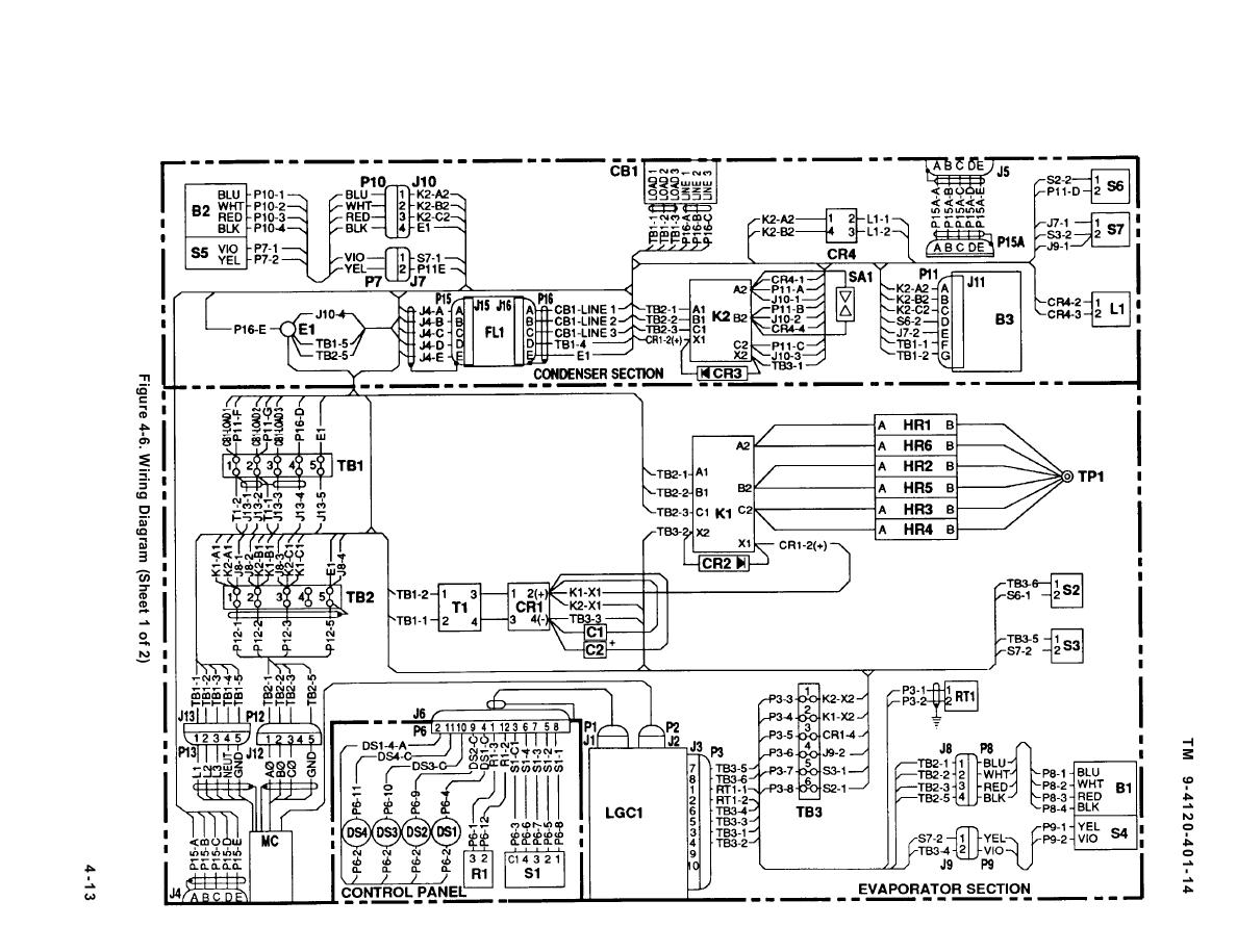 FIGURE 4-6. WIRING DIAGRAM (SHEET 1 OF 2)