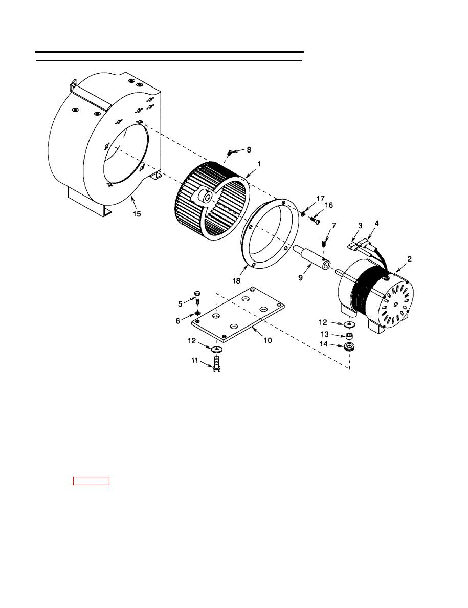 Figure 4-43. Condenser Fan, Motor, and Housing