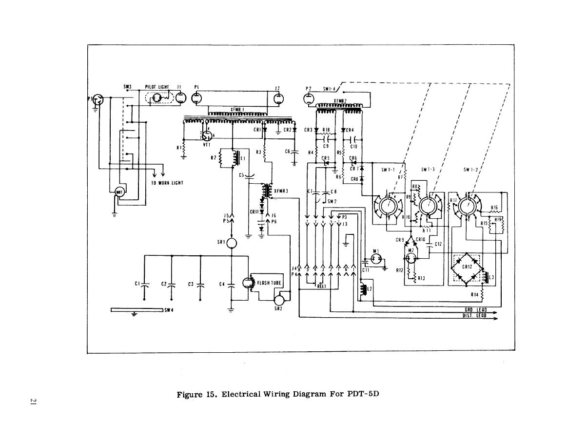 FIGURE 15. ELECTRICAL WIRING DIAGRAM FOR PDT-5D