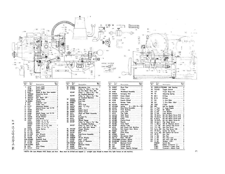 KO Lee Valve Grinder Manual for K403C & K500C Auto Parts
