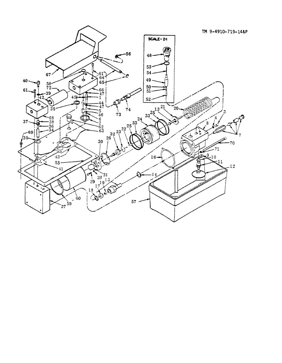 Figure 6. Air/Hydraulic Pump Parts Drawing