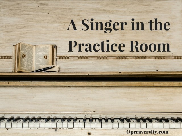 A Singer in the Practice Room Large