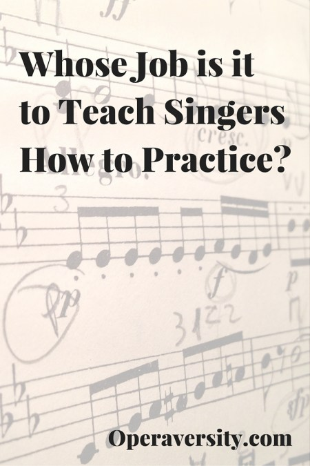 Whose job is it to teach singers how to practice?