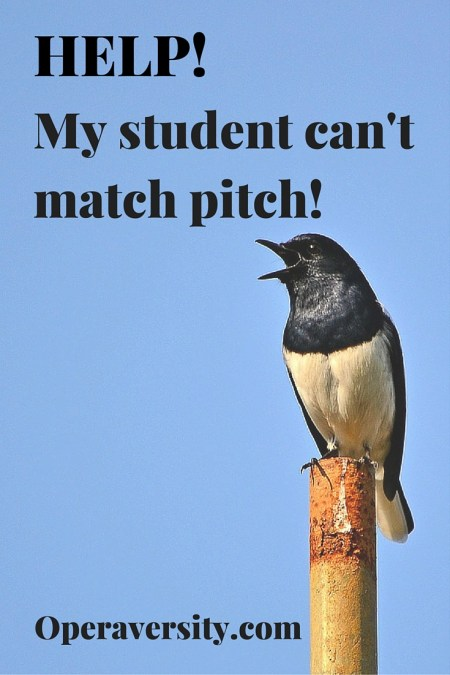 Help! My student can't match pitch!