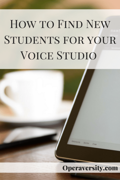 How to Find New Students for your Voice Studio
