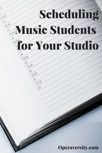Scheduling music students for your studio