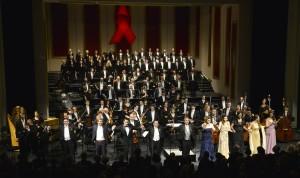 AIDS-Gala 2014 im Opernhaus Düsseldorf - Schlussapplaus FOTO: Paul Esser