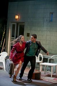 Oper Dortmund/Entführung//Eleonore Marguerre (Konstanze), Lucian Krasznec (Belmonte) ©Björn Hickmann / Stage