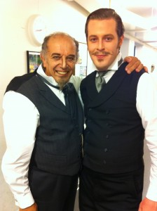 Morgan Moody mit Leo Nucci / Backstage Oper Zürich / Foto privat