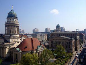 Blick aus der Präsidentensuite auf den Gendarmenmarkt / Hotel Regent Berlin