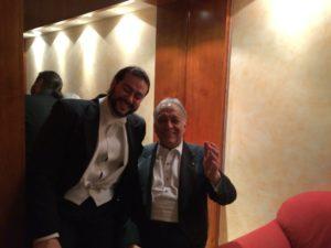 Aris Argiris und Maestro Zubin Mehta