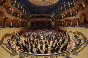 Foto mit den Essener Philharmonikern im Alfried Krupp Saal der Philharmonie Essen (Foto: Volker Wiciok)