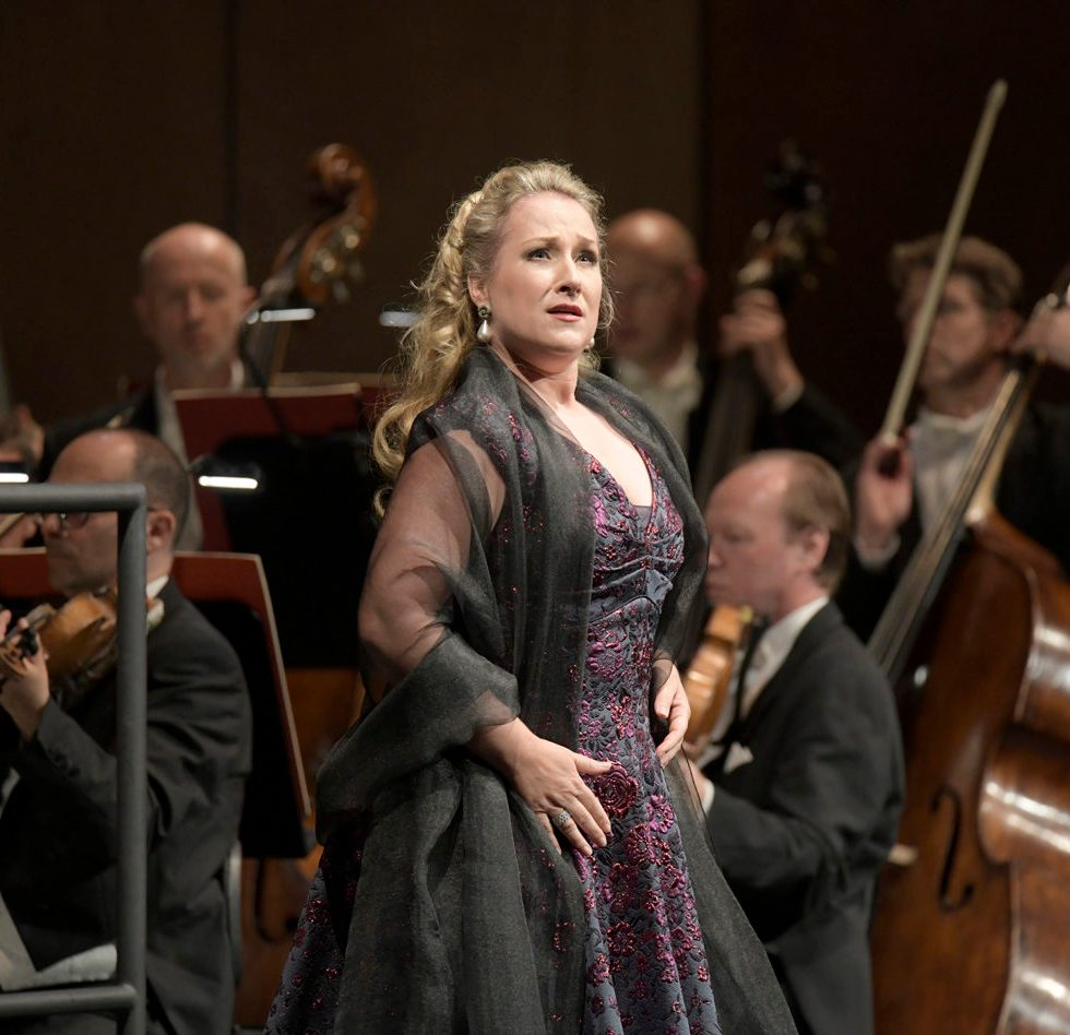 Diana Damrau/ Maria Stuarda, Konzertante Premiere am 28. Mai 2018 in der Deutschen Oper Berlin, copyright: Bettina Stöss