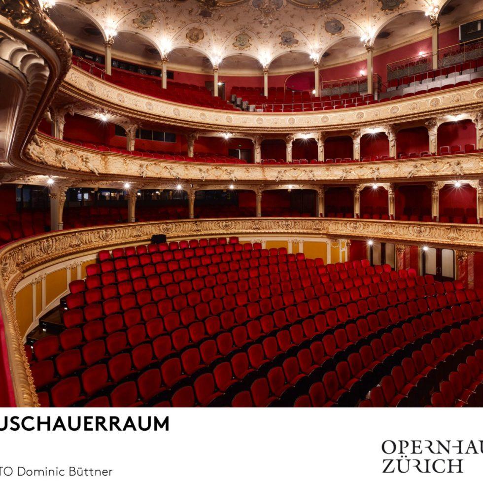 Opernhaus Zürich/Zuschauerraum/ Foto @ Dominic Büttner