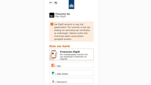 Valse website 'DigiD'