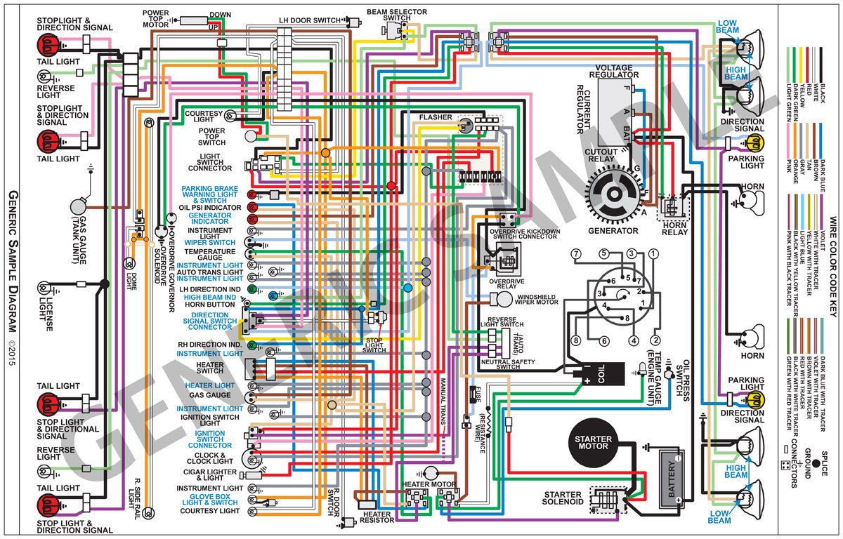 Factory Wiring Diagram, Full Color Fits 1964 El Camino