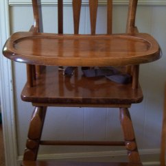 Wooden High Chair Cushion Replacement Feet Vintage Mrs Ophelia Payne