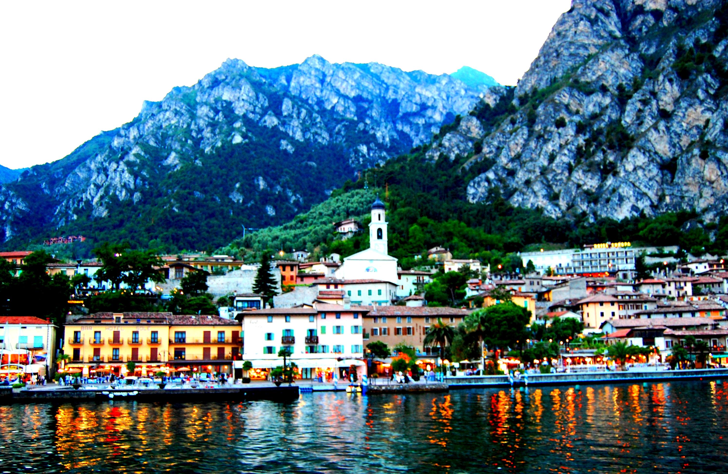 Photography  Lake Garda  Italy  Mountains castles and