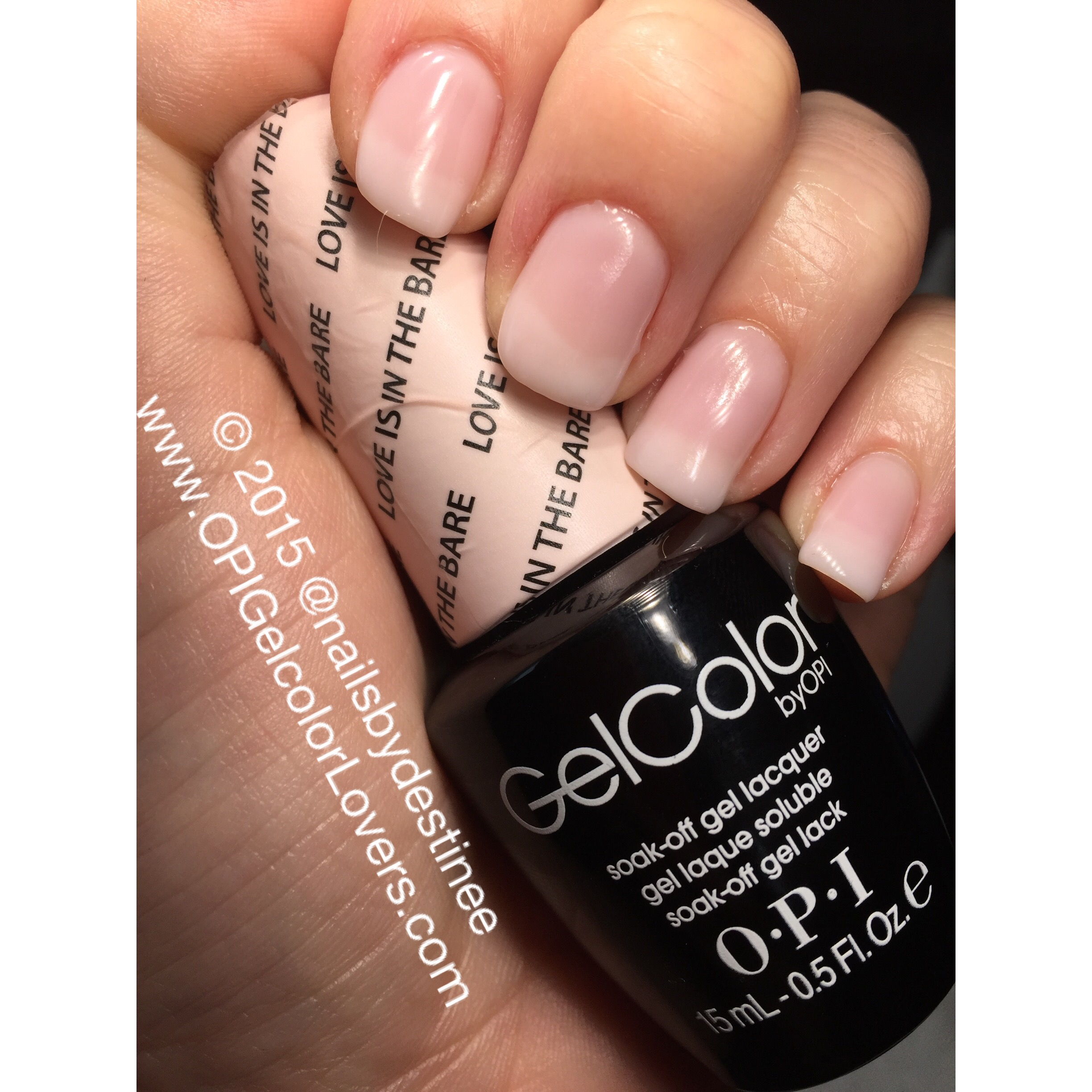 Opi Gelcolor Lovers Manicure Monday Love Is In The Bare