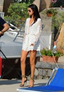 Selena Gomez White Romper