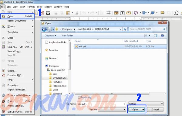 Cara Edit Teks Pada File PDF Dengan LibreOffice 5  Opikini