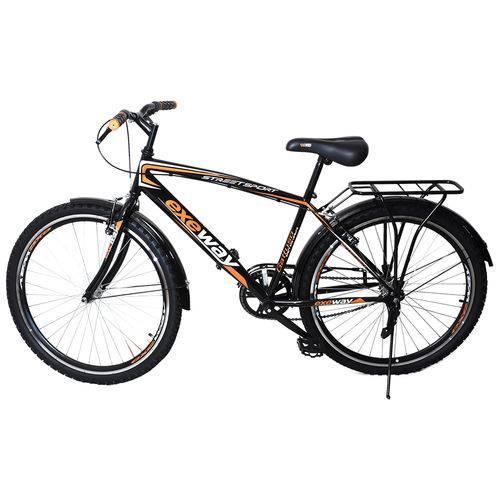 Bicicleta Aro 26 Exeway Street Sport, Preta/laranja é bom