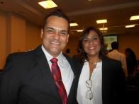 André com a conselheira do AGRUPARH Isabel