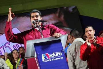 Nicolas Maduro lors d'un rassemblement à Caracas en mai 2018