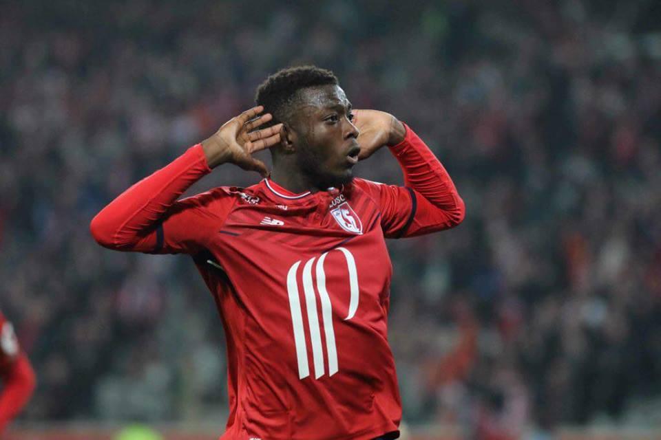 Nicolas Pépé jubilant après son but contre le PSG