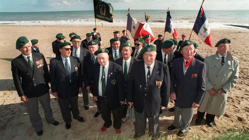 Quelques soldats ayant particiipé au débarquement de Normandie en juin 1944