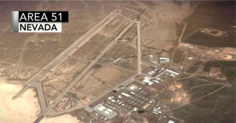 Une vue aérienne de la Zone 51