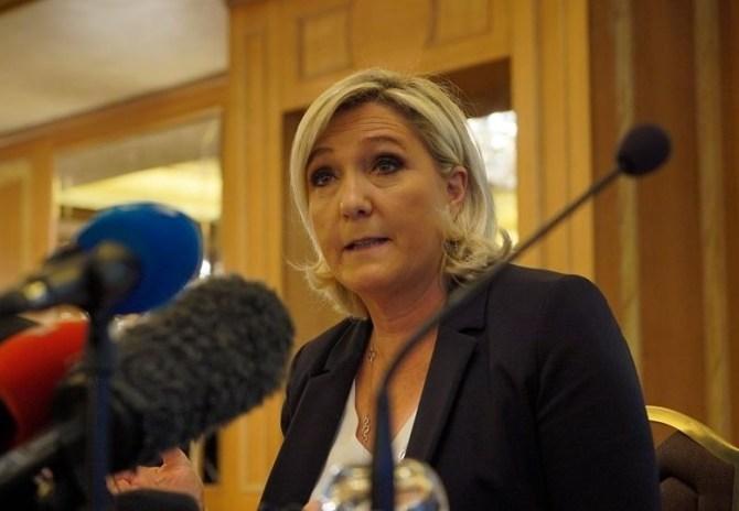 Marine le Pen, lors d'une conférence de presse en mai 2019