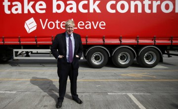 "London Mayor Boris Johnson attends an ""Out"" campaign event, in favour of Britain leaving the European Union, at Europa Worldwide freight company in Dartford, Britain March 11, 2016. REUTERS/Peter Nicholls"