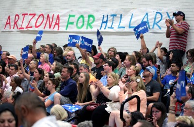 Supporters Hillary Clinton