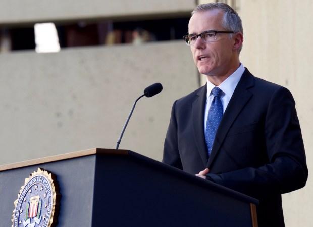 FBI-adjunct directeur Andrew McCabe