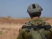 Israëlische soldaat bij de grens met Gaza