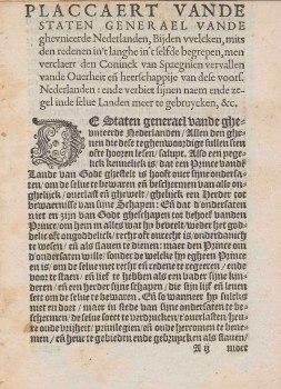Plakkaat van Verlatinghe (1581)
