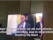 Minister Stef Blok gefilmd tijdens een bijeenkomst voor Nederlandse ex-pats