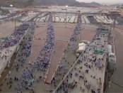 Pelgrims in Mekka, op weg naar de Ka'abah.